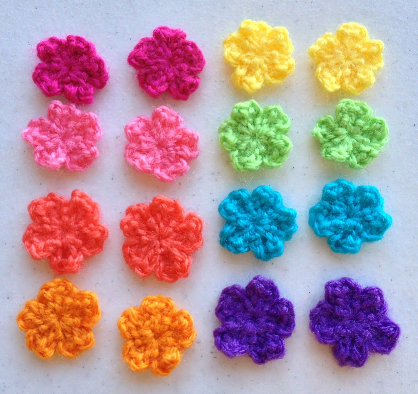 Make ALL The Things!: Small Flower Crochet Pattern ♡ Teresa ...