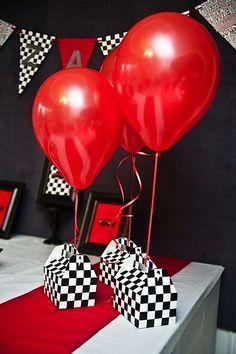 Decorations for Race Car theme baby shower Pinterest Race car
