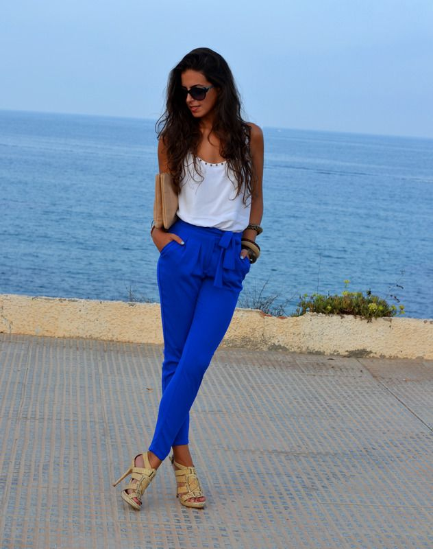1SILLAPARAMIBOLSO: ELECTRIC BLUE PANTS