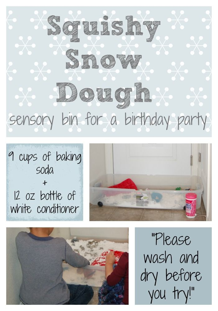 Winter Birthday Party Activities for a Toddler Squishy Snow Dough
