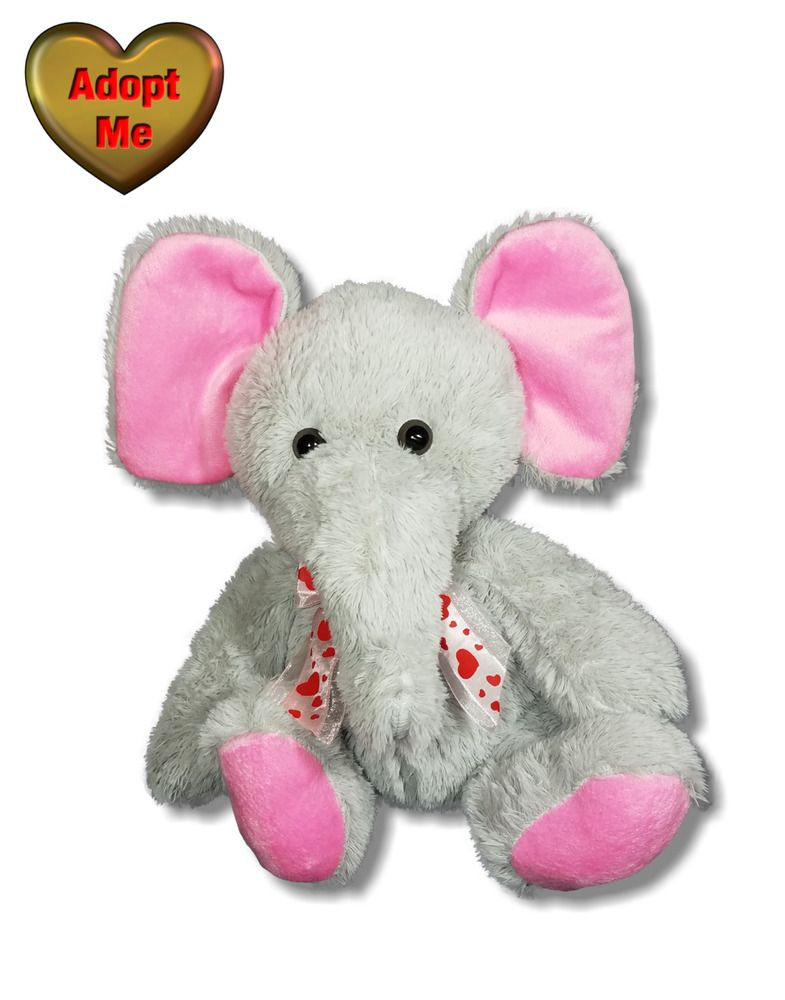 Inter American Product Valentine Elephant In Pink Heart Bow