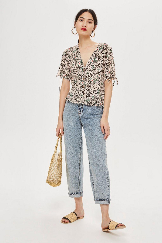 d7ebe498bb36 Leopard Print Button Down Blouse   Fashion   Blouse, Shirt blouses ...