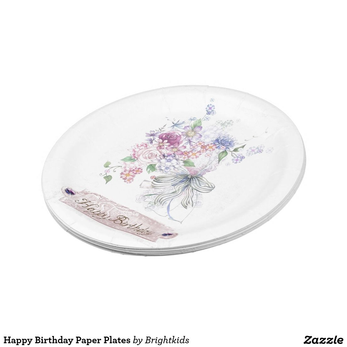 Happy Birthday Paper Plates 7 Inch Paper Plate  sc 1 st  Pinterest & Happy Birthday Paper Plates   Birthdays Support small business and ...