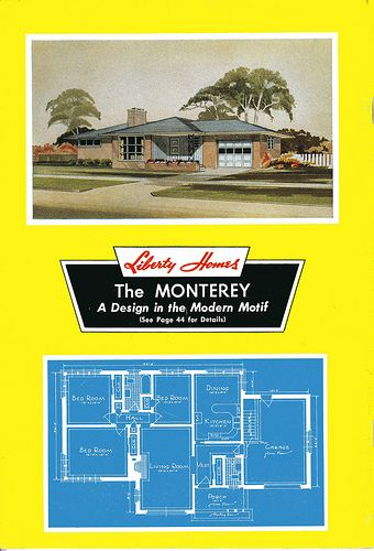 Liberty 1955::Mid Century Modern House Plans / a set by Daily ... on
