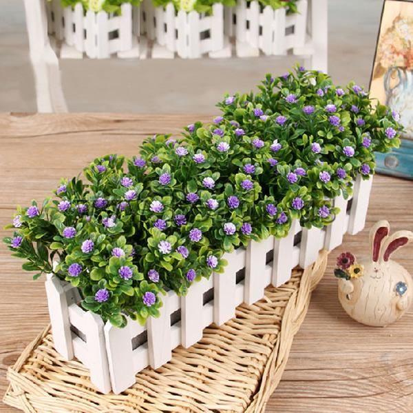 Decoración de Flores Artificiales, paño, con madera, Púrpura