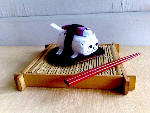 Maguro sushi cat Magnet by zeropumpkin on Etsy, $16.90