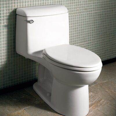 American Standard Champion 1 6 Gpf Elongated One Piece Toilet Seat Not Included Finish White In 2020 American Standard Toilet Wall Small Bathroom