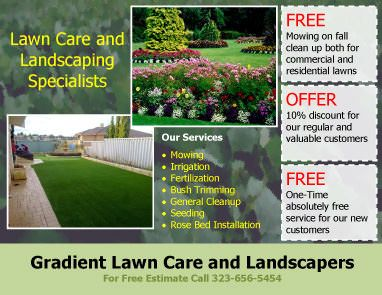 Lawn care services flyer template with three coupons for Garden maintenance flyers