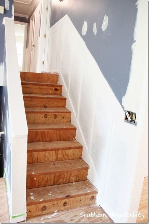 Board and Batten on stairs