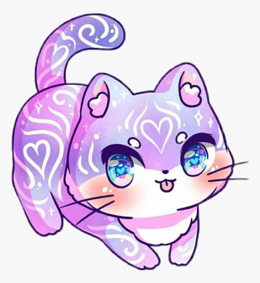 Kawaii Purplecat Sailormoon M Jenni Illustrations Cat Hd Png Download Is Free Transparent Png Image To Cute Anime Cat Cute Kawaii Animals Kitten Drawing