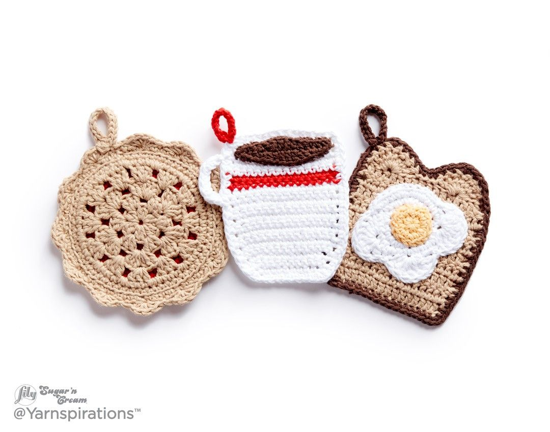 Crochet Pot Holder Dinner Trio | Crochet table | Pinterest | Ganchillo