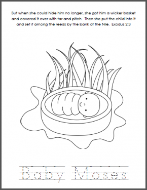 preschool coloring pages of moses - photo#25