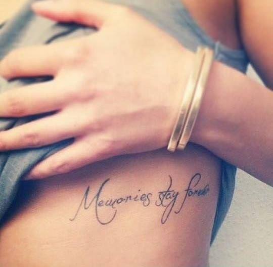 Memories stay forever
