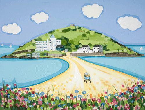 Baxters Gallery Dartmouth Uk British Artist Summer Illustration Sea Pictures