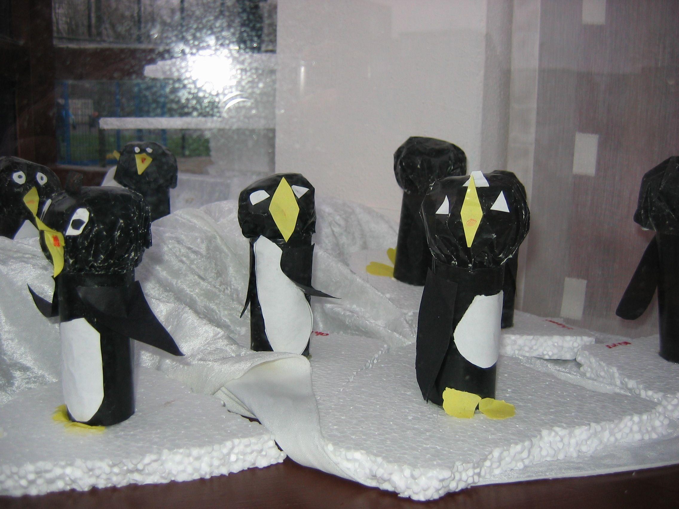 3d Knutsel Pinguin Knutselen Noordpool Pinguins Kleurplaten
