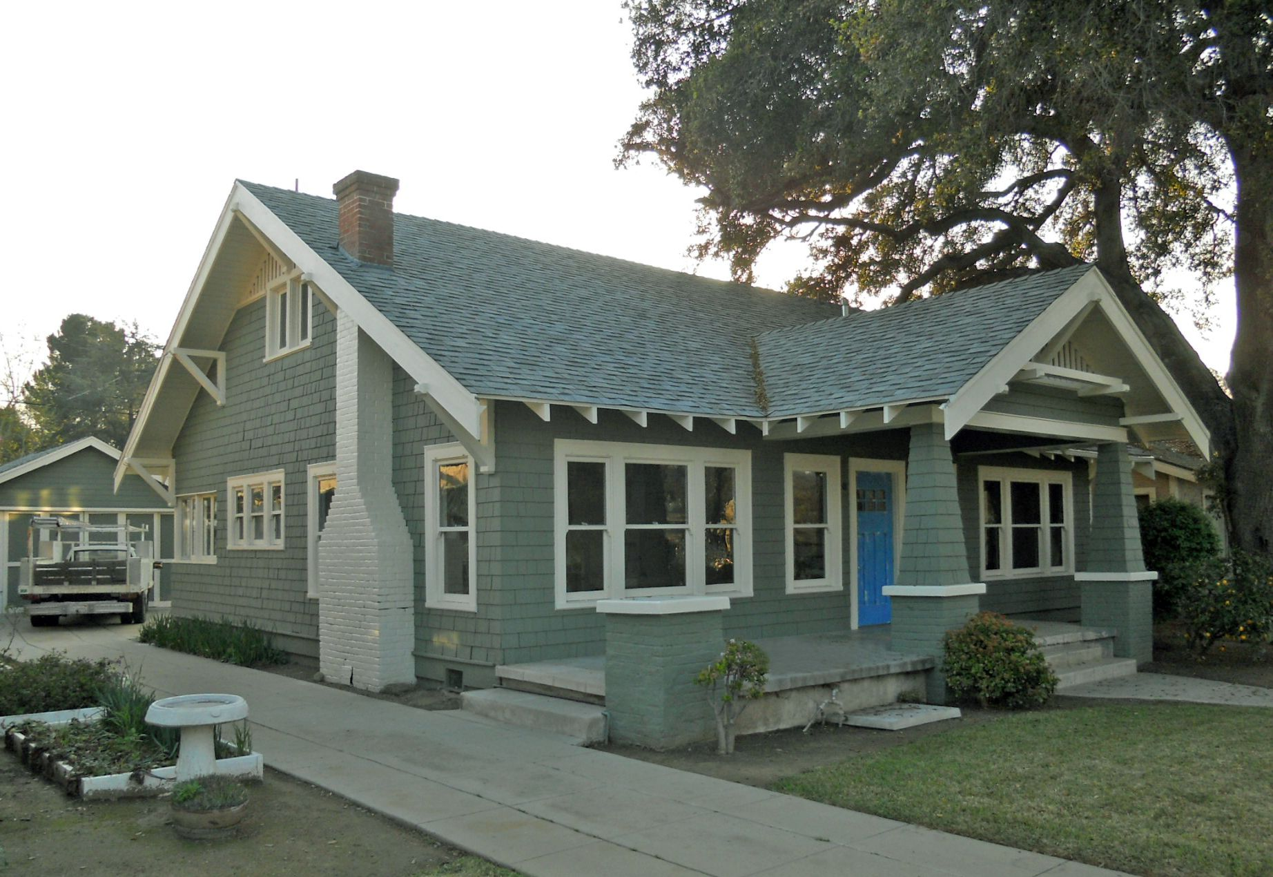 """[ SOLD for $279,900 — 7/08/2011 ] Large two-story classic California Bungalow built in 1922 in the historical """"Wood Streets"""" neighborhood, ..."""