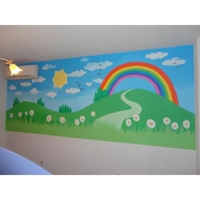 Dibujos artisticos en paredes infantiles madrid pintura - Dibujos paredes infantiles ...