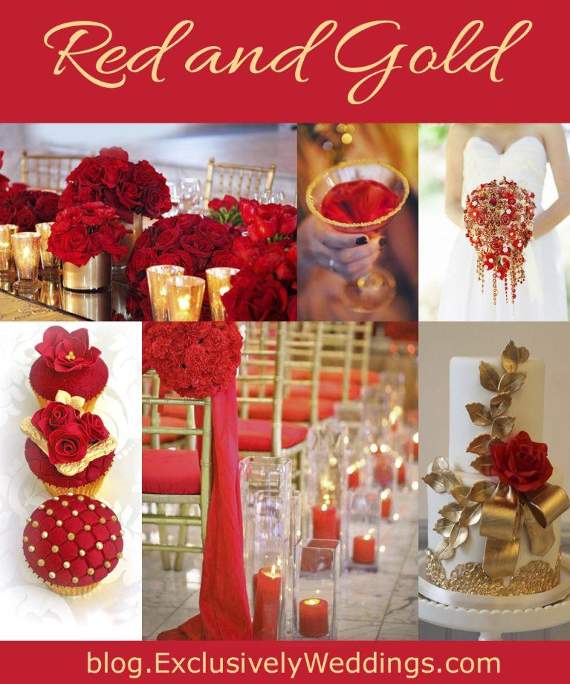 Red Wedding Color Seven Vibrant Combinations Gold wedding colors April wedding colors