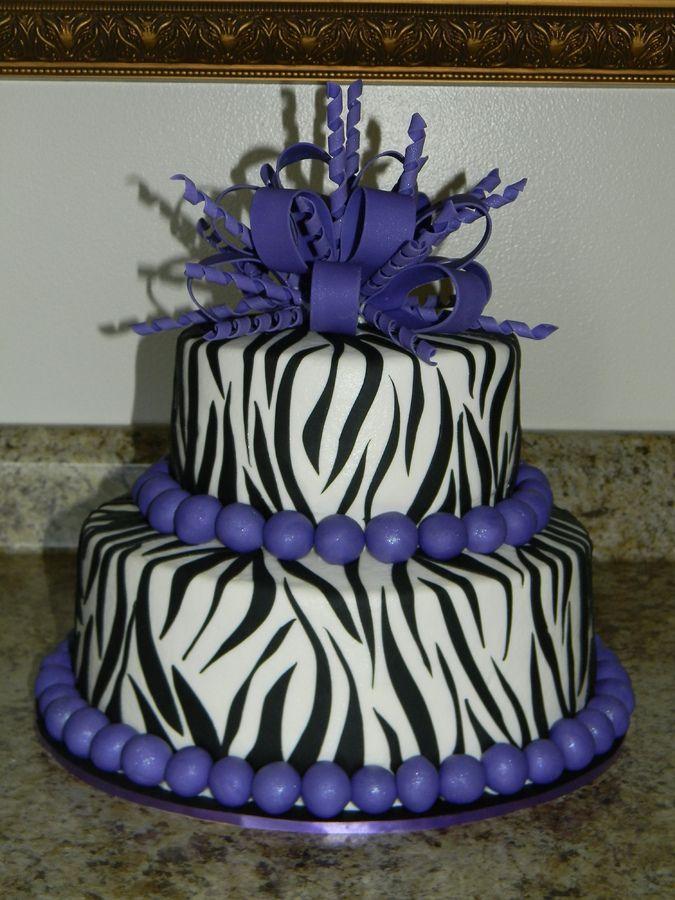 Wondrous Purple Zebra Print Zebra Print Cakes Zebra Cake Cake Personalised Birthday Cards Veneteletsinfo