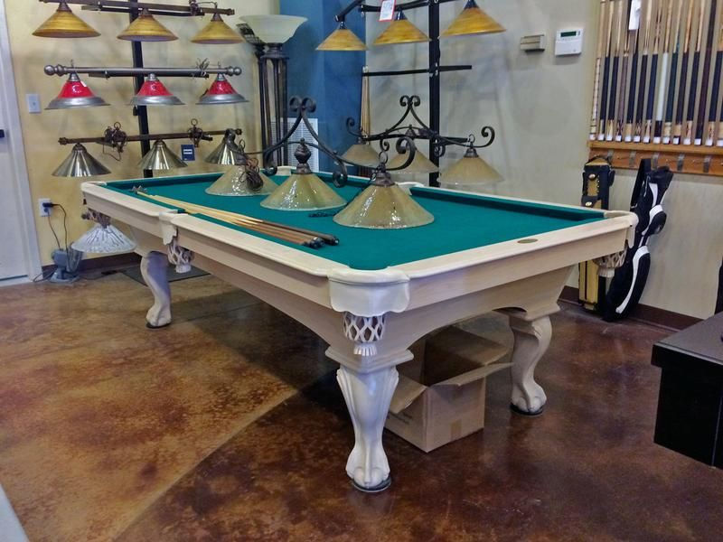 Olhausen Black Hawk Pool Table Shabby Chic Furniture White Wash