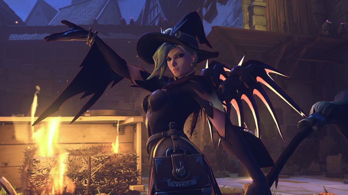 Overwatch Witch Mercy Brawl By 3redin Mercy Overwatch Games