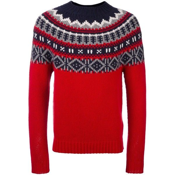 Moncler Fair Isle Knit Jumper (29.965 RUB) ❤ liked on Polyvore ...