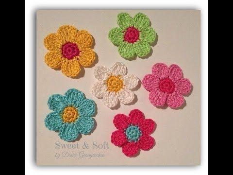 Como Tejer Flores De 5 Petalos A Crochet Muy Facil How To Make