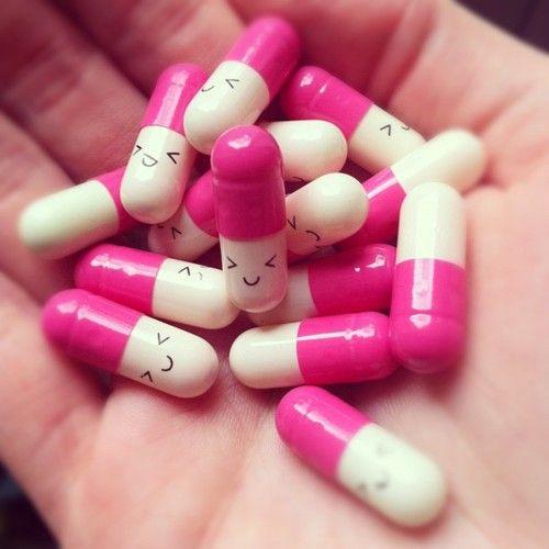 Pink cute pills.