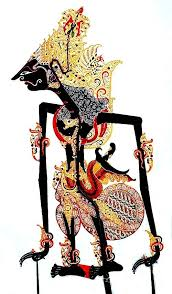 Kresna the first cousin of the Pandhawas and their main advisor and his main purpose is to carry out the will of the gods, Wayang Kulit, Sukoharjo Central Java, Leather