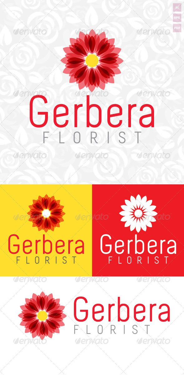 Gerbera Florist Logo  #GraphicRiver         Gerbera Florist Logo is perfect for florists. It is made by simple shapes although looks very professional. The final files include multiple variations of the Logo.  Featured   AI & EPS CS1 documents  PDF document  100% vector (easy to re-size)  Multiple colour variations  Free Fonts used: Melbourne –  .fonts2u /melbourne.font      Created: 20May12 GraphicsFilesIncluded: VectorEPS #AIIllustrator Layered: No MinimumAdobeCSVersion: CS Resolution…