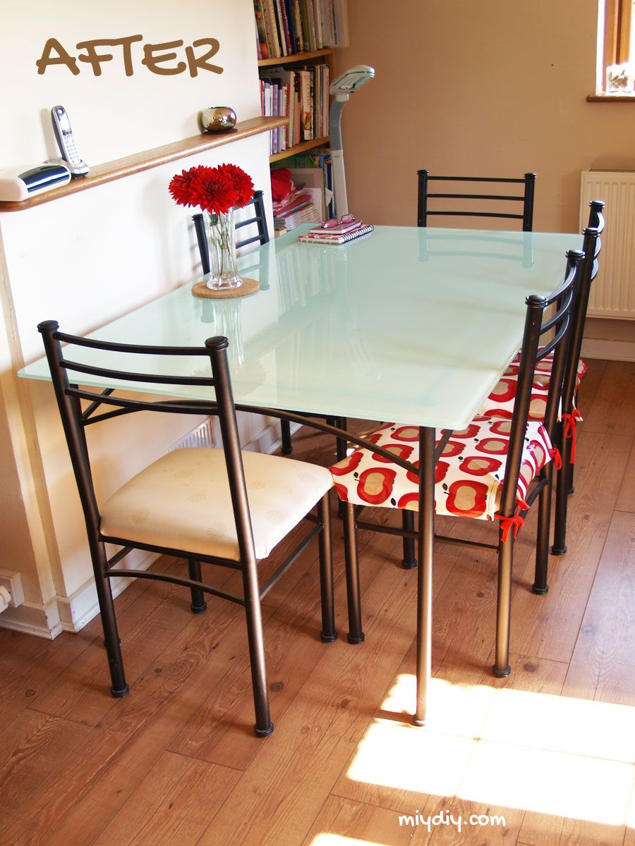 Painting a Glass Table Top | Crafts | Glass table, Glass kitchen tables, Glass dinning table