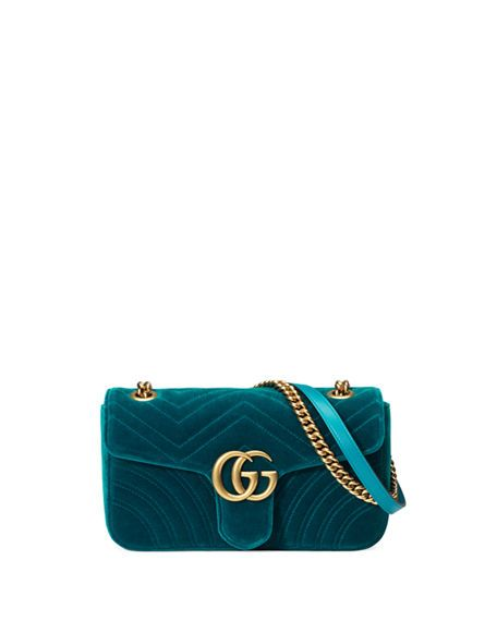 016c86f6fdb GUCCI Gg Marmont 2.0 Mini Quilted Velvet Crossbody Bag