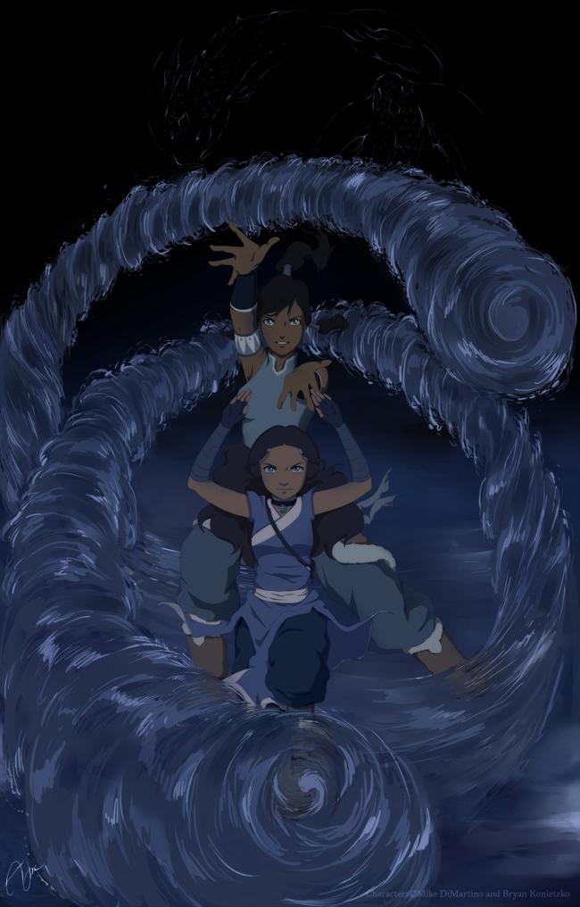 Waterbenders By Urrea Deviantart Com Korra Korra Avatar Avatar
