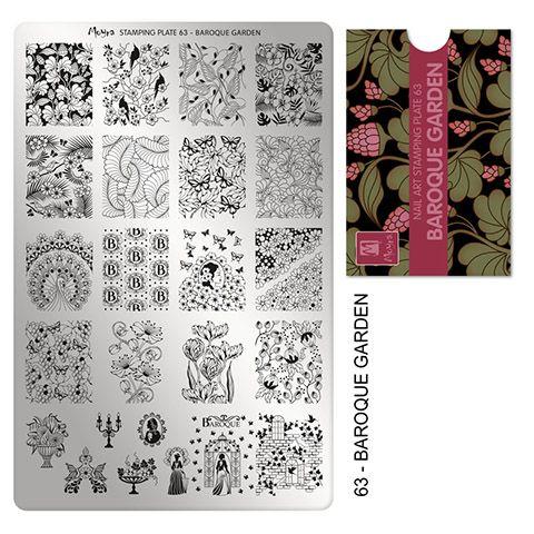 COMING SOON Moyra Stamping Plate 63 - Baroque Garden