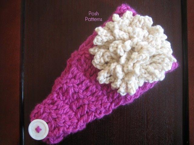 Free & Easy Crochet Pattern--Headband Ear Warmer & Loopy Flower ...
