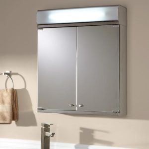 Delview Stainless Steel Medicine Cabinet With Lighted Mirror Brushed