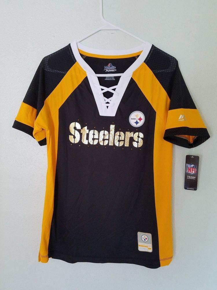 MAJESTIC NFL Team Apparel PITTSBURGH STEELERS V-Neck Jersey Shirt Womens NWT    34.20 End Date  Wednesday Oct-10-2018 12 28 50 PDT Buy It… 505005ef6
