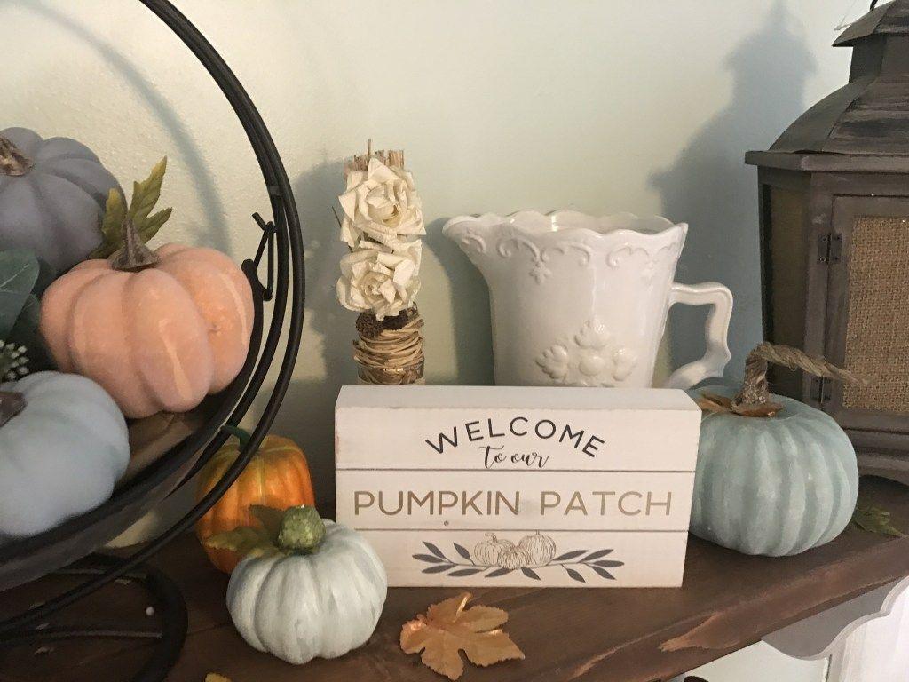 Cheap Fall Decor DIY Farmhouse Pumpkins- Dollar Tree Hack images