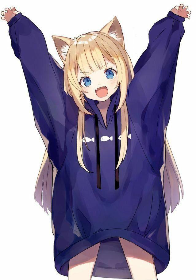 big hoodie anime anime pinterest anime neko and