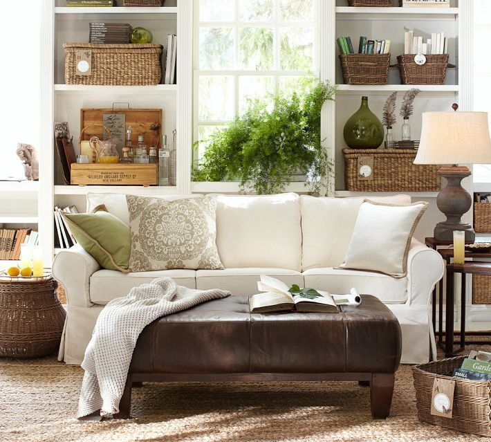 Green Home Decor Ideas: Like This Neutral Living Room And Green Pillow From