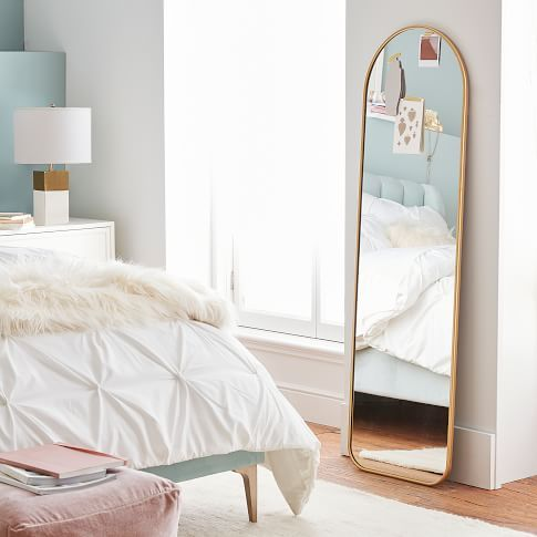 Metal Framed Full Length Mirror in 2020 | Full length ... on Mirrors For Teenage Bedroom  id=54464