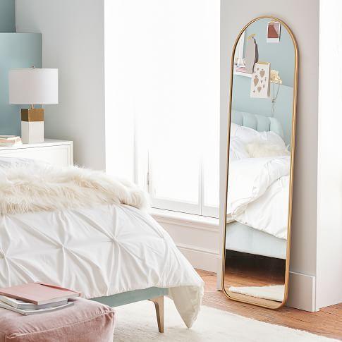 Metal Framed Full Length Mirror in 2020   Full length ... on Mirrors For Teenage Bedroom  id=54464