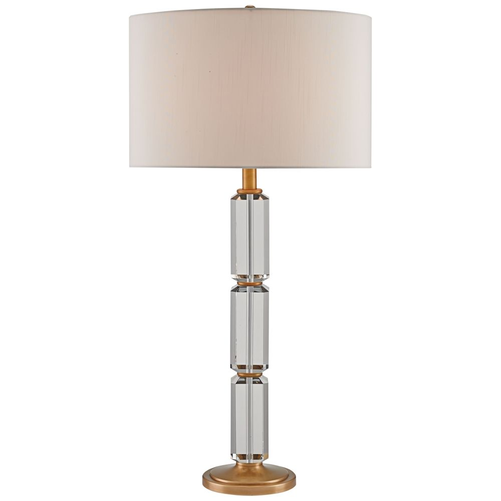 Currey And Company Tango Clear And Antique Brass Table Lamp Style