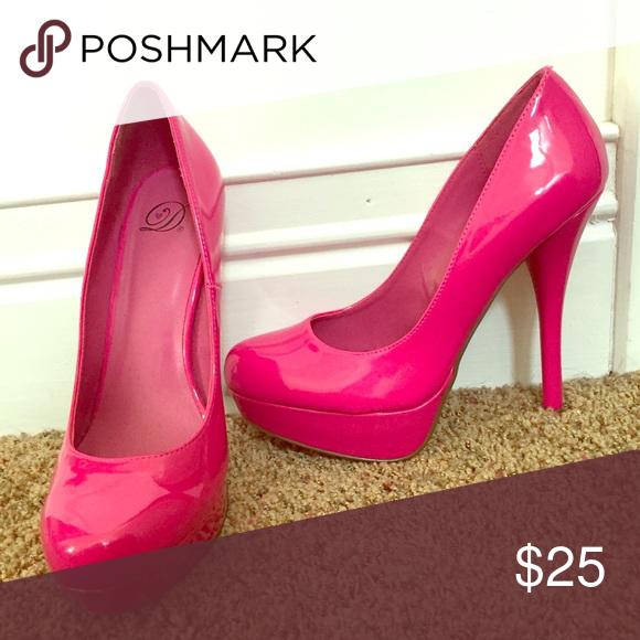 b0811567adaa Hot Pink Stilettos WORN ONCE Shoes Heels Stilettos