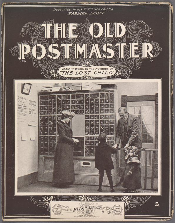 The old postmaster / words by Edward B. Marks ; music by