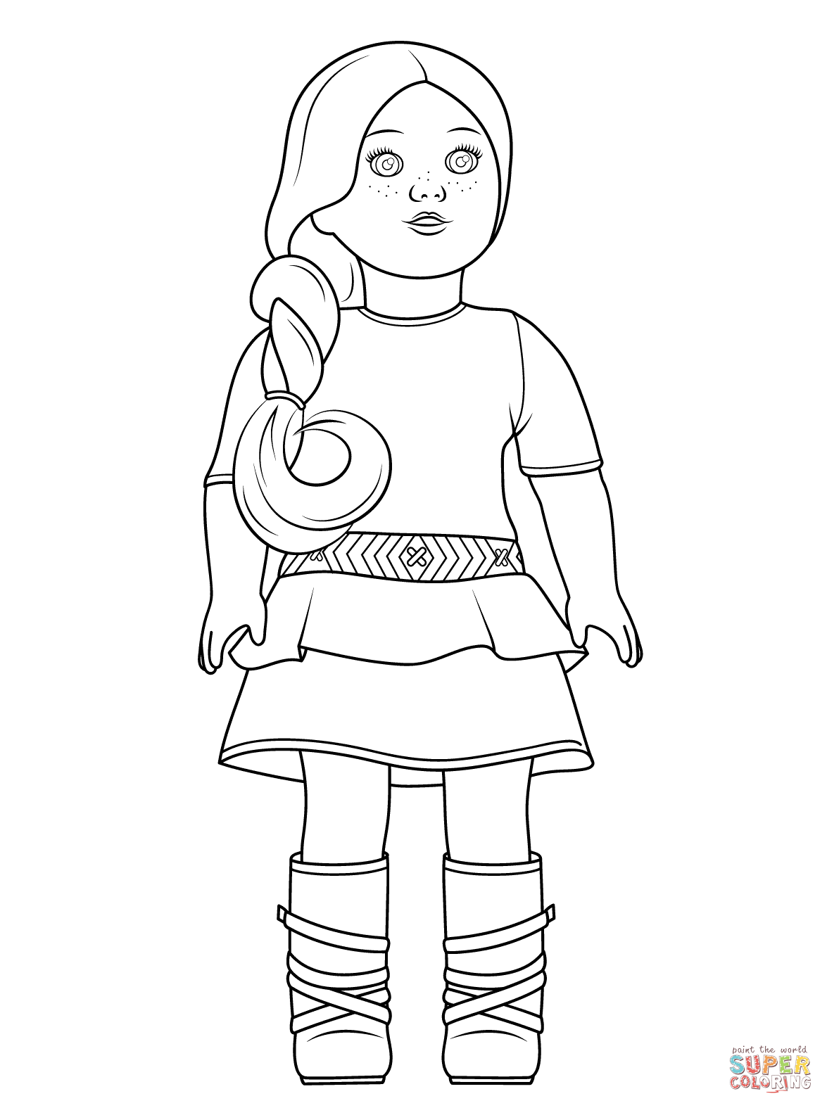 American Girl Saige coloring page from American Girl category ...
