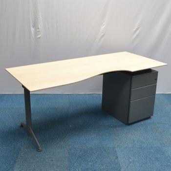 Herman Miller Abak Maple 1800x800 Scallop Desk Used Office
