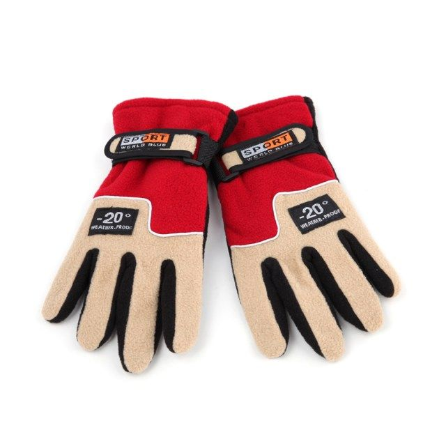 Adjustable Gloves Women Full Finger Fleece Outdoor Windproof Thermal Winter Ski Cycling Skiing Hiking