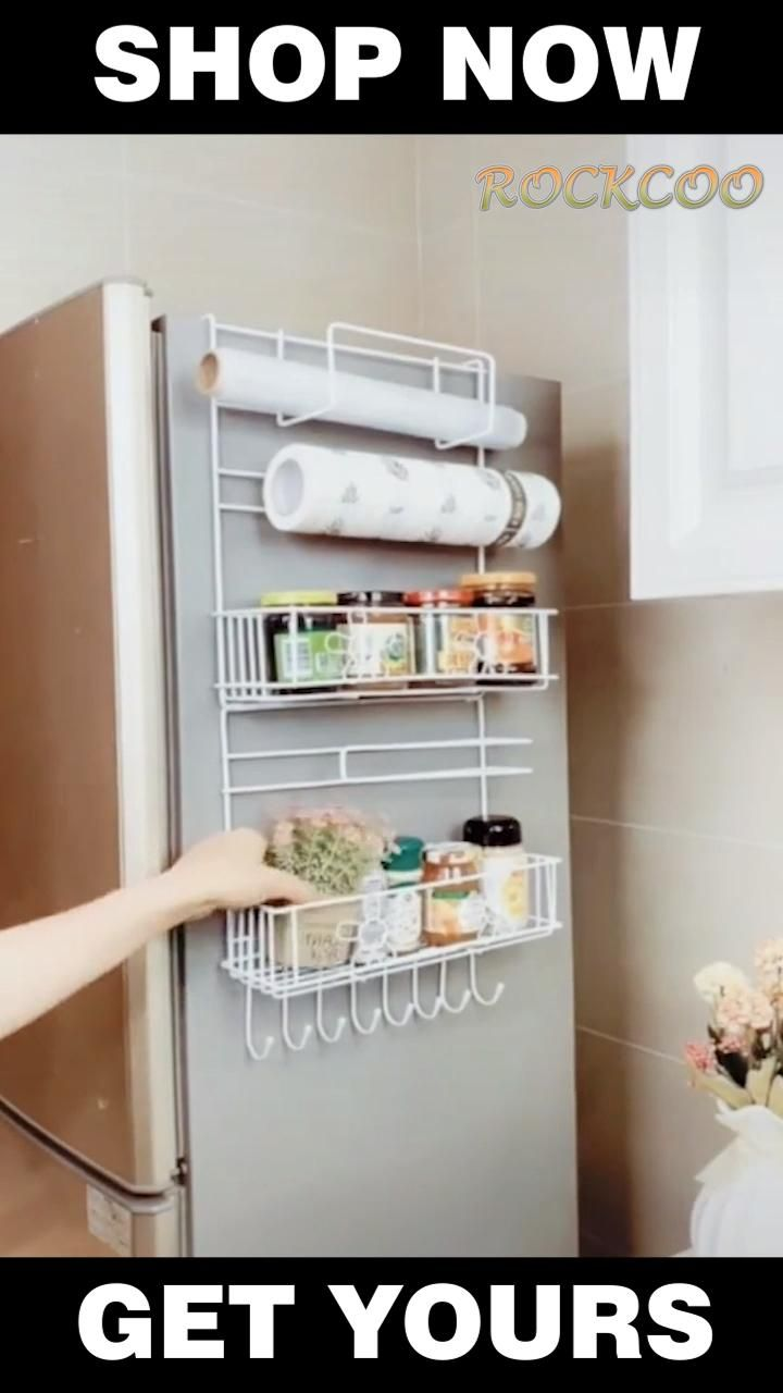 Photo of Multifunctional Refrigerator Side Storage Shelf