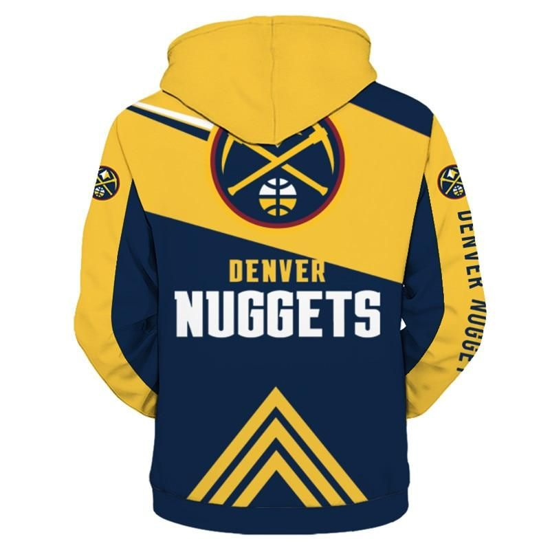 0b194f91 Denver Nuggets Hoodie 3D basketball Zipper Sweatshirt Pullover NBA ...